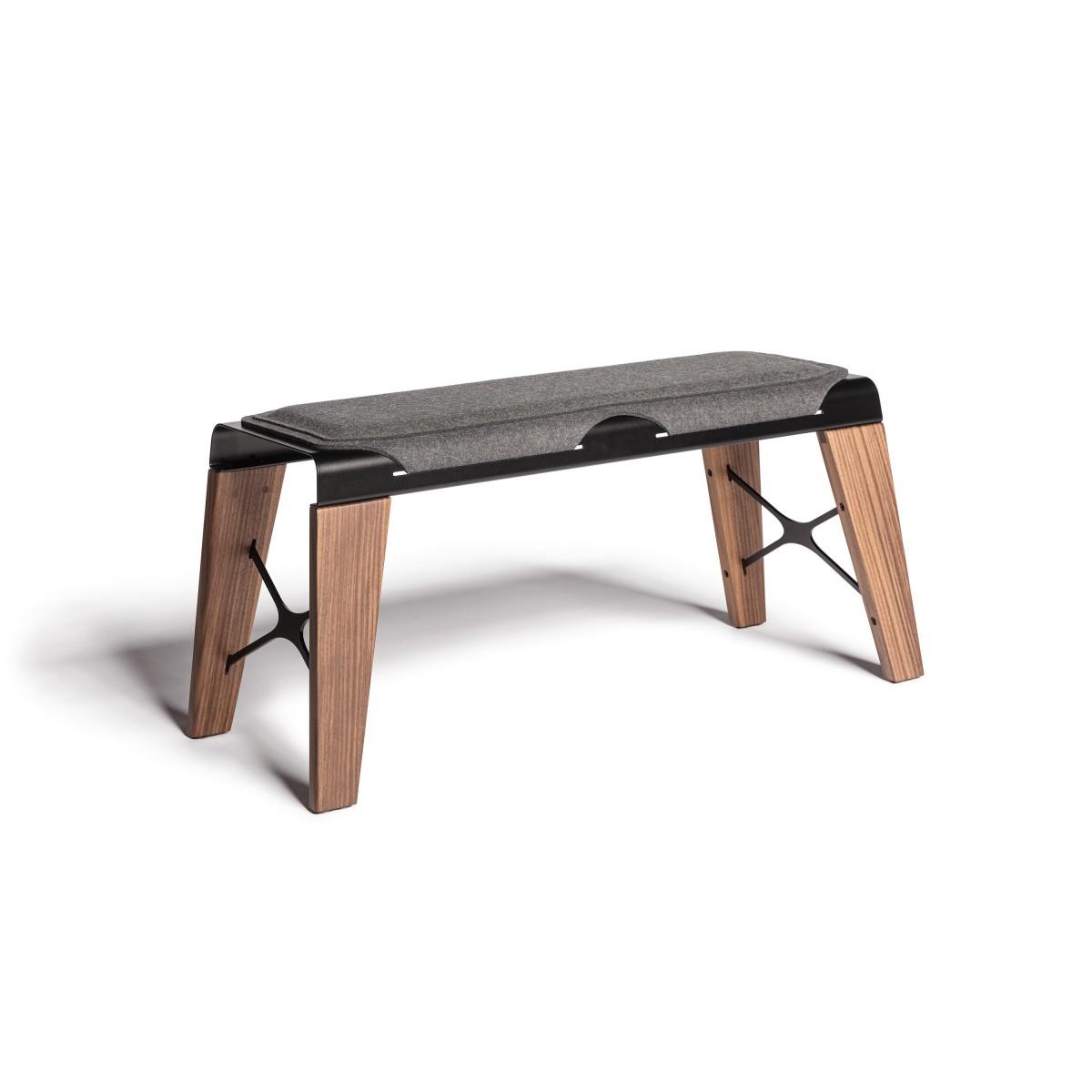 sitzbank boonk 1000 nussbaum verkehrsschwarz. Black Bedroom Furniture Sets. Home Design Ideas