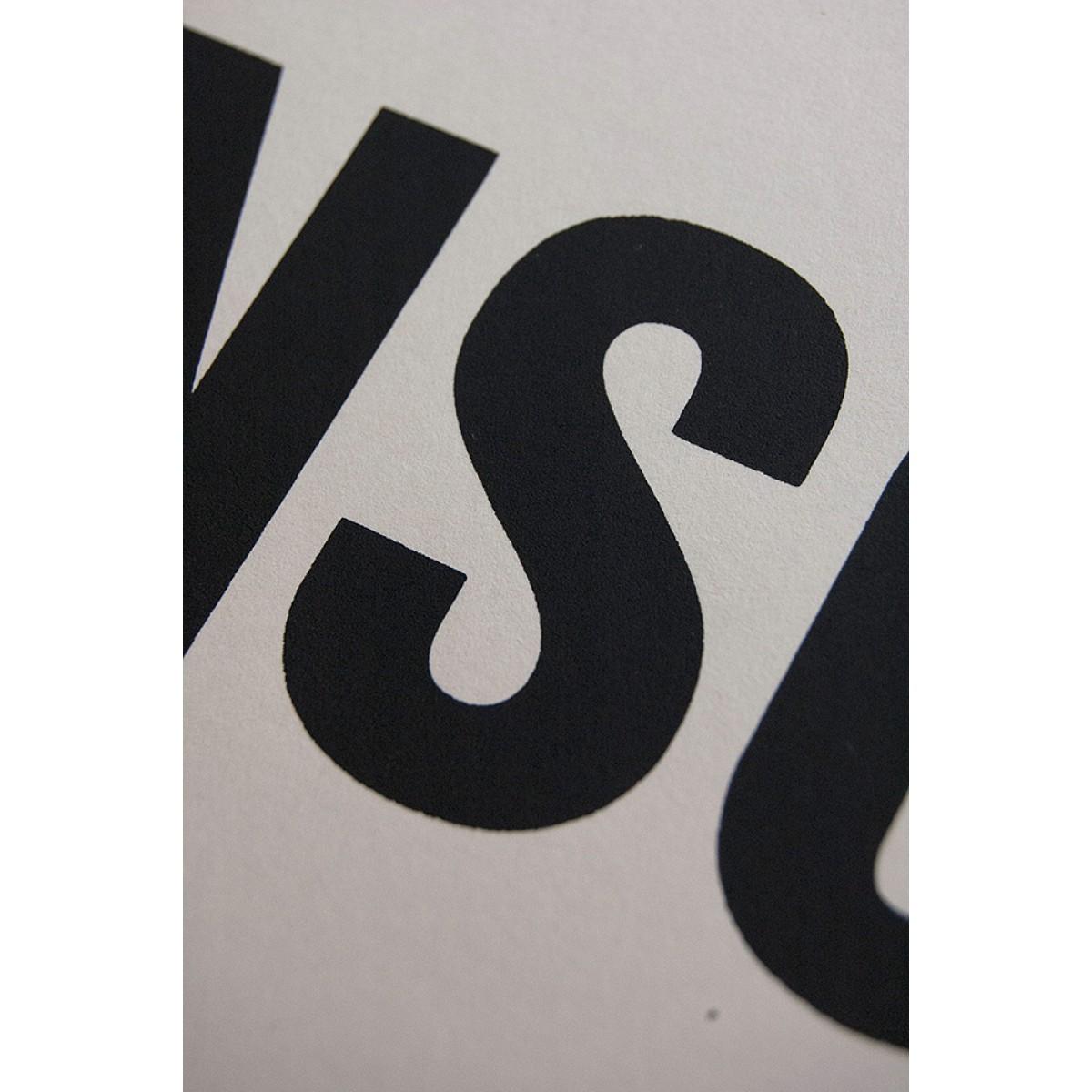Buchstabenort Braunschweig Stadtteile-Poster Typografie
