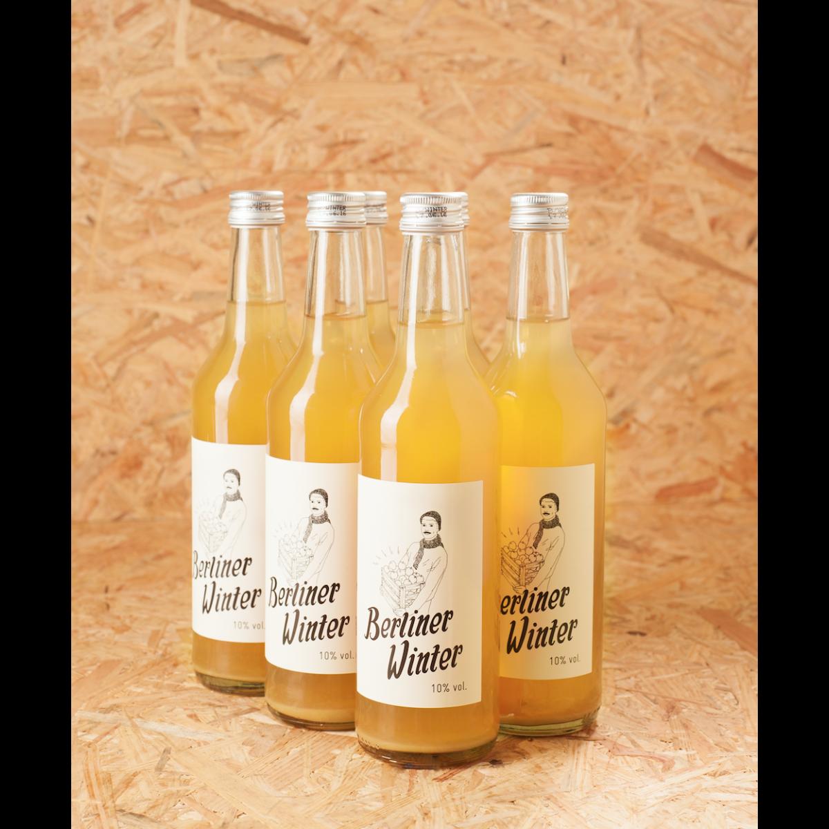 Berliner Winter - Die Alternative zu Glühwein. Alkoholisches Heißgetränk mit Apfelsaft, Wodka und Gewürzen. 0,5l 6er-Set