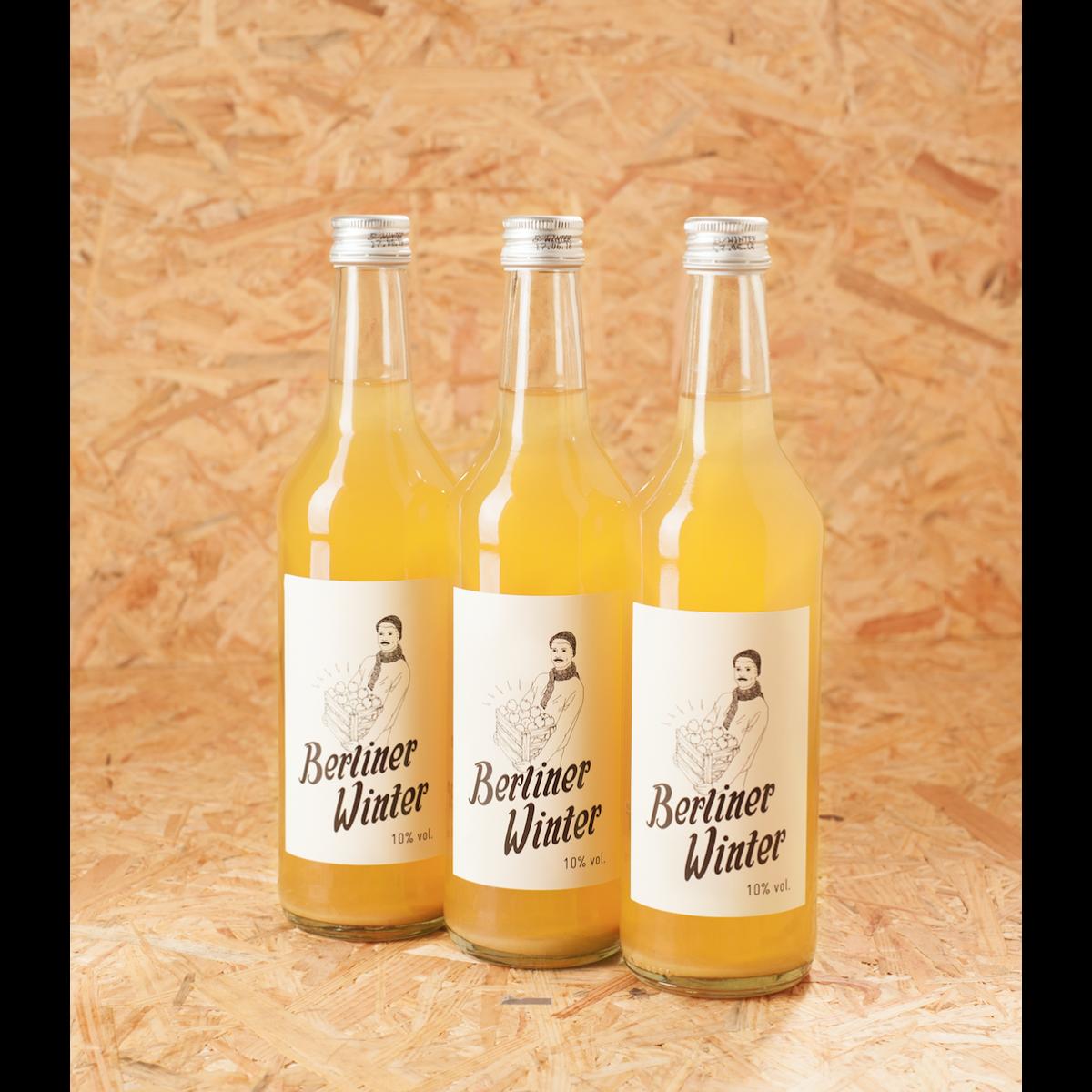 Berliner Winter - Die Alternative zu Glühwein. Alkoholisches Heißgetränk mit Apfelsaft, Wodka und Gewürzen. 0,5l 3er-Set