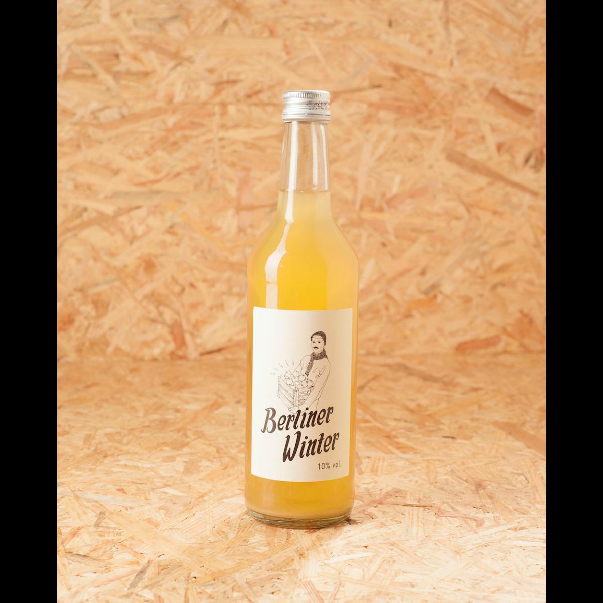 Berliner Winter - Die Alternative zu Glühwein. Alkoholisches Heißgetränk mit Apfelsaft, Wodka und Gewürzen. 0,5l Flasche einzeln