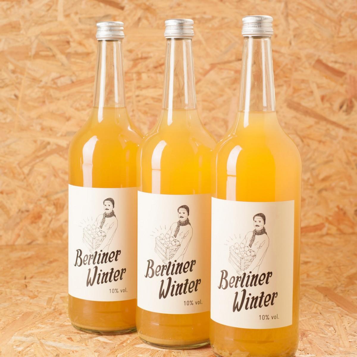 Berliner Winter - Die Alternative zu Glühwein. Alkoholisches Heißgetränk mit Apfelsaft, Wodka und Gewürzen. 1,0l 3er-Set