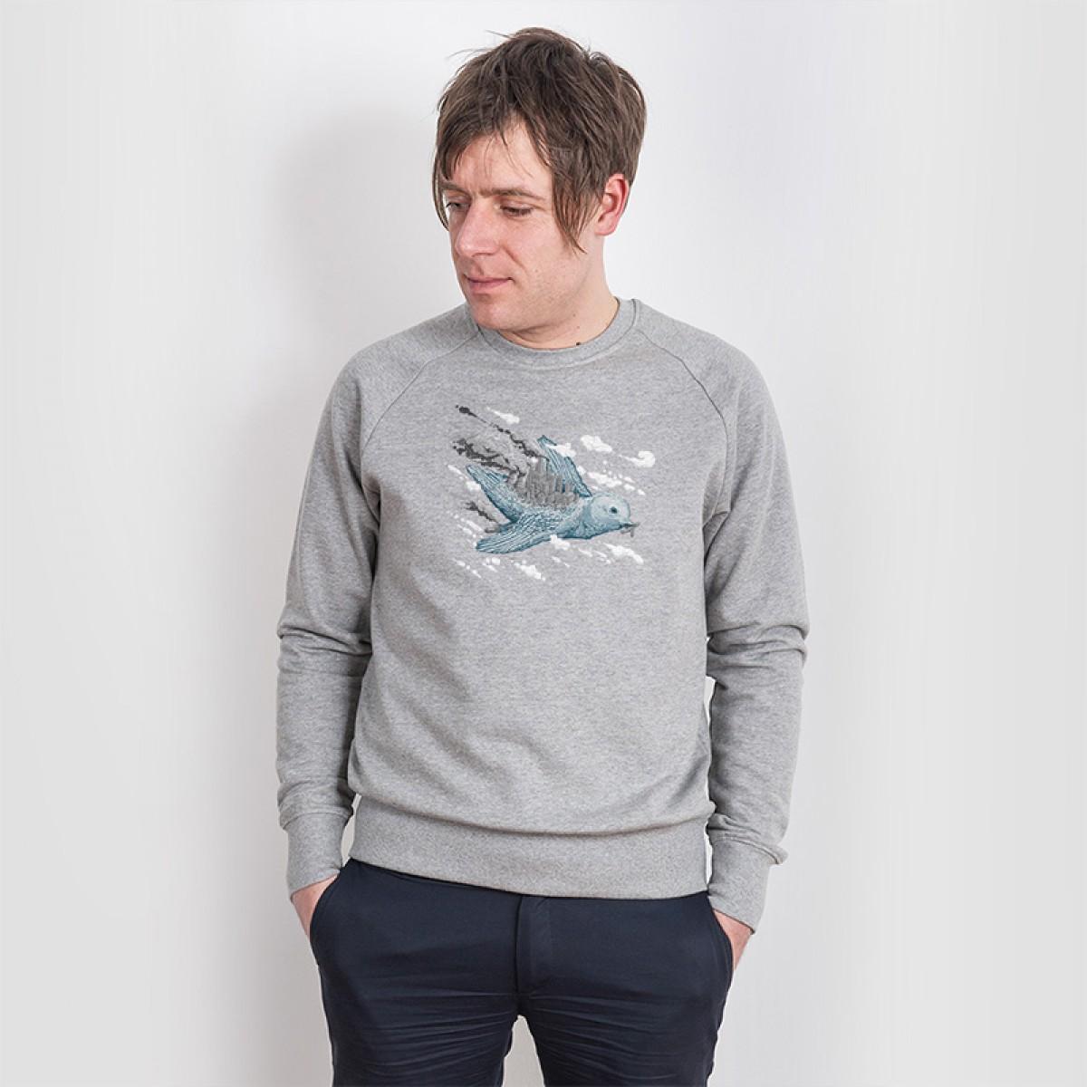 Robert Richter – Clean the World - Bird - Organic Cotton Sweatshirt