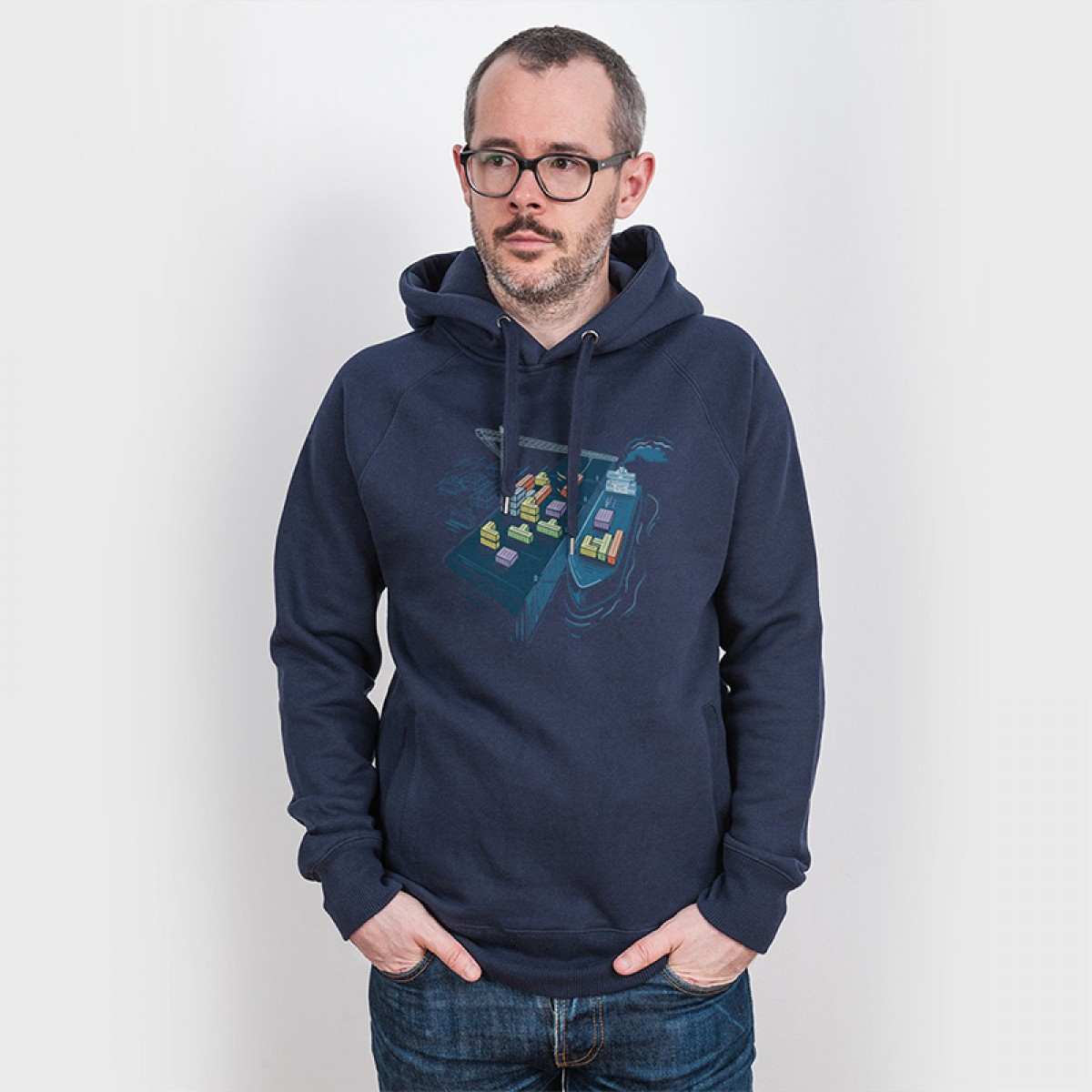 Robert Richter – Game Port - Organic Cotton Unisex Hoodie