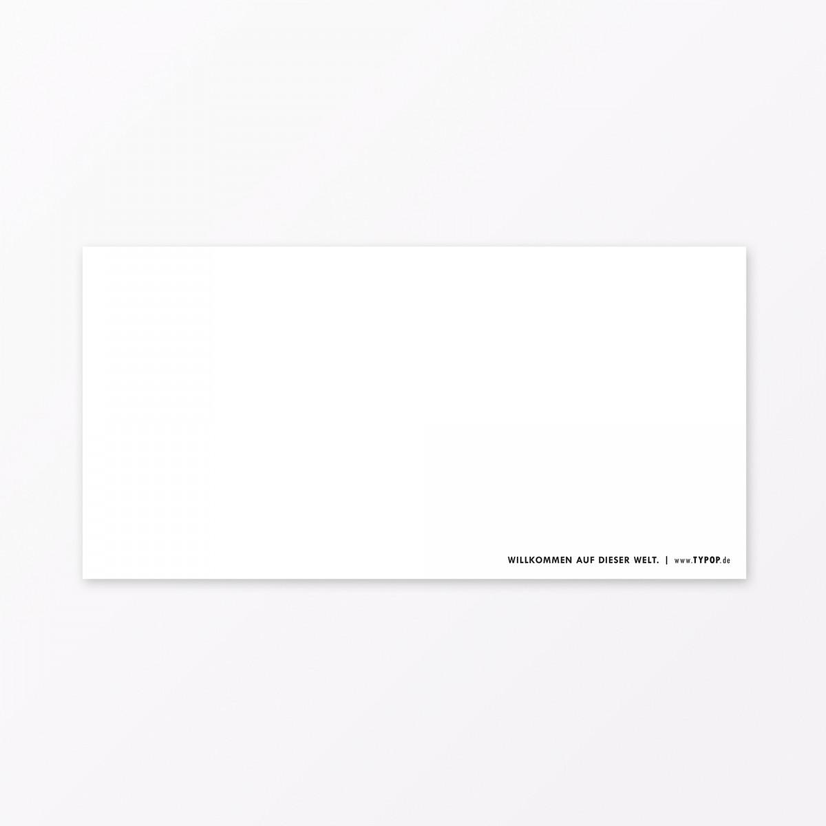 """TYPOP 2-teiliges Set Design BABYKARTE """"Willkommen Sonnenschein"""" DIN lang inkl. Umschlag"""