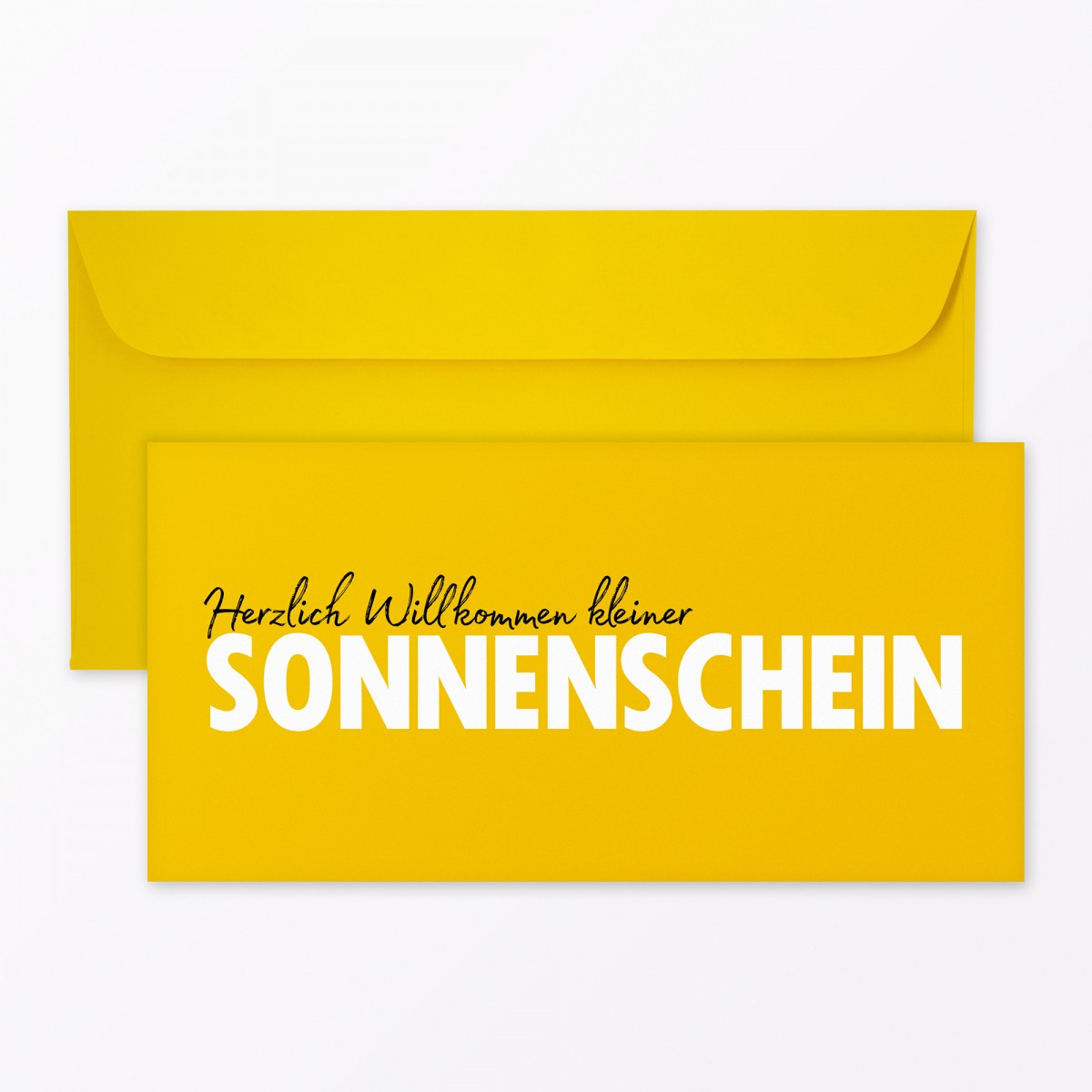 """TYPOP Babykarte """"Willkommen Sonnenschein"""" DIN lang inkl. Umschlag"""
