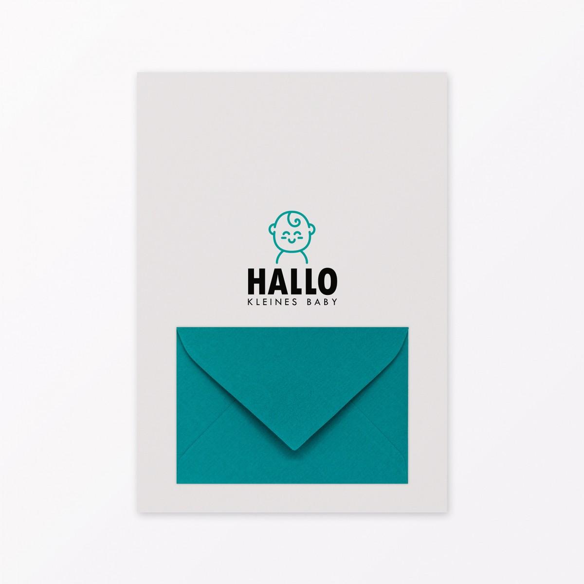 TYPOP 5-teiliges Set Design BABYKALENDER Hallo kleines Baby inkl. Umschlag