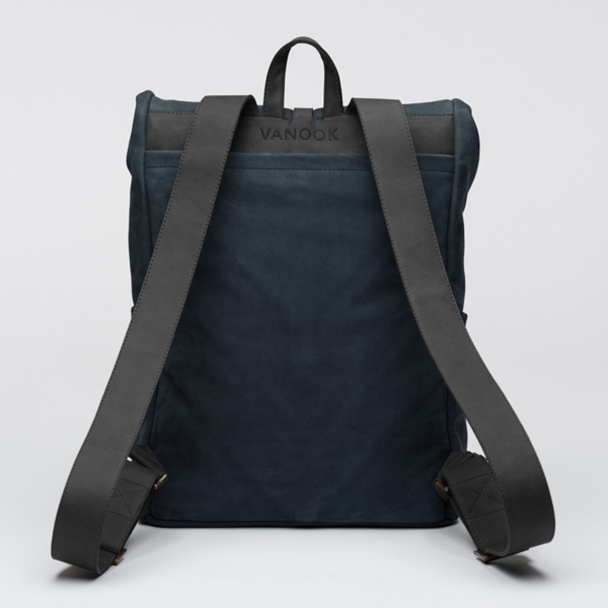 VANOOK- Backpack Leather Navy