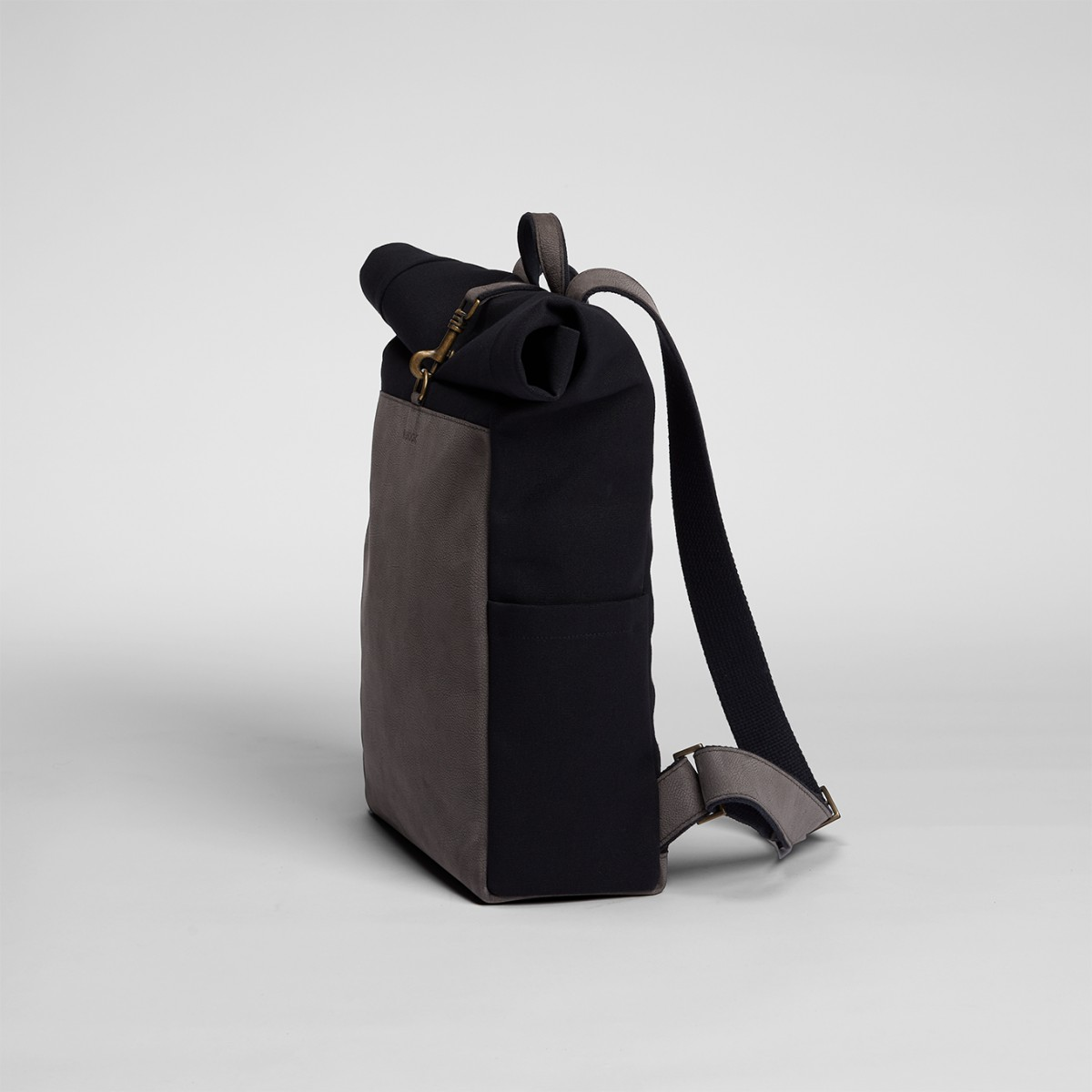 Roll-Top Backpack Black