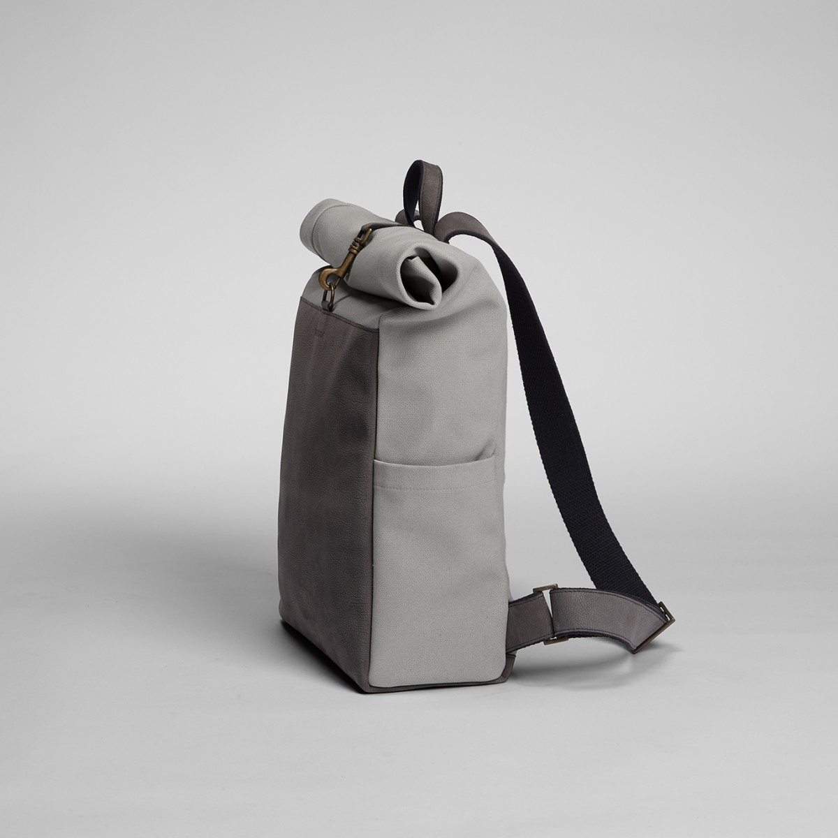 Roll-Top Backpack Grey