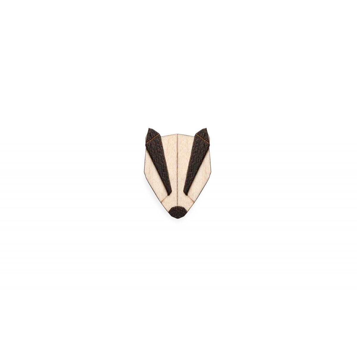 Badger Brooch von BeWooden