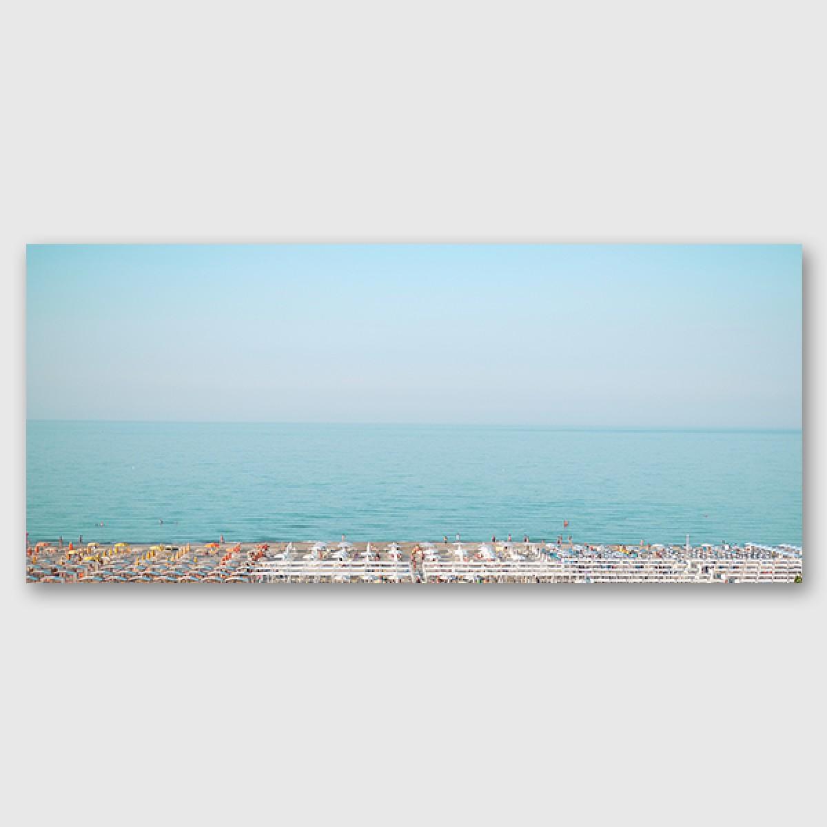 "ZEITLOOPS ""Beachpanorama"", Druck unter Acrylglas"