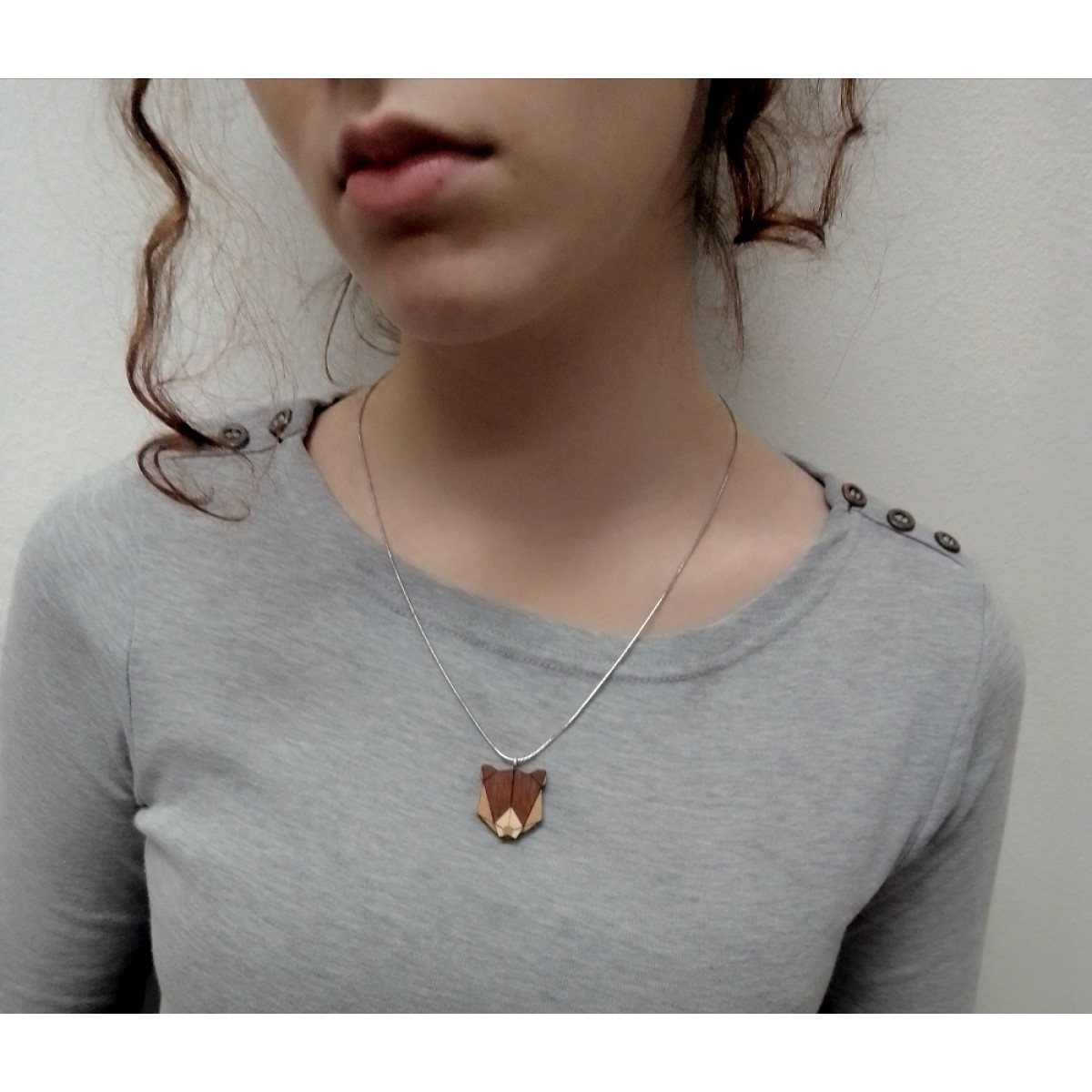 """BeWooden Halskette mit Anhänger mit Tiermotiv """"Bear Pendant"""