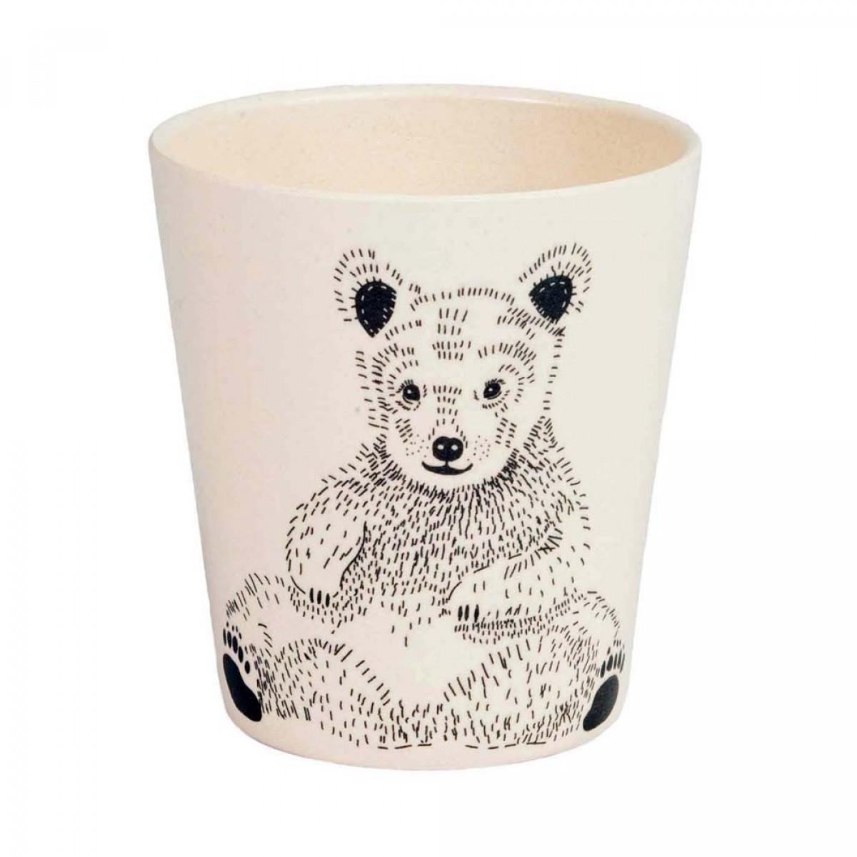 nuukk Bambus Becher Bären