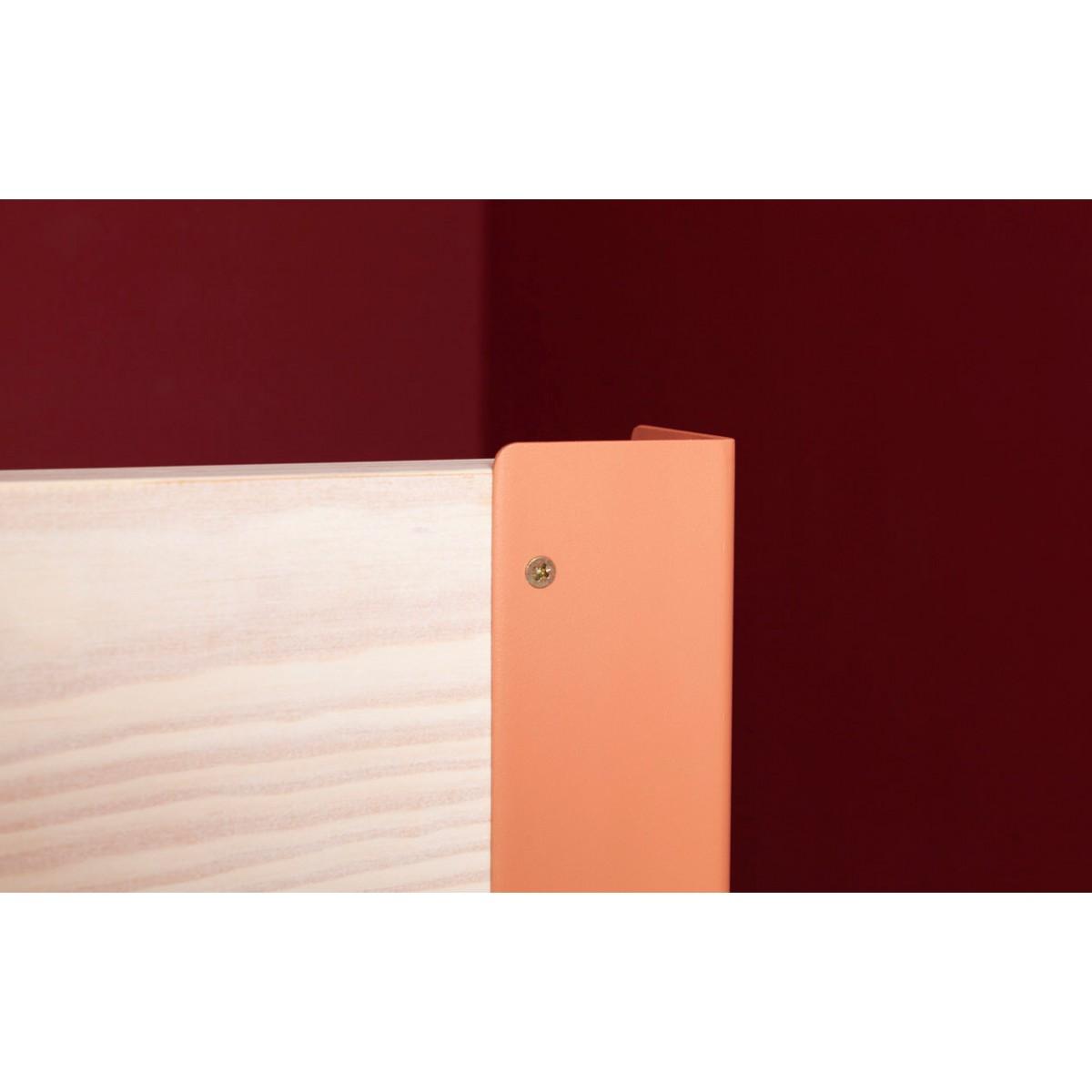 JOHANENLIES | Bett aus recyceltem Bauholz und Stahl | ALTIERS mit Kopfteil