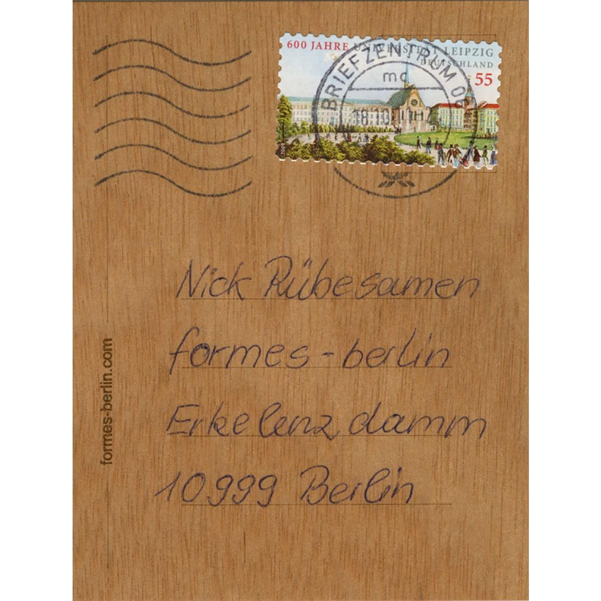 formes Berlin Nilpferd-Karten - 6 Postkarten aus Holz