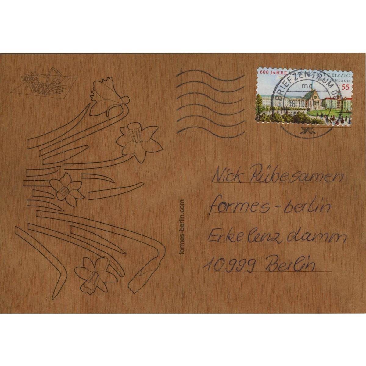 formes Berlin Osterglocken-Karten - 6 Postkarten aus Holz