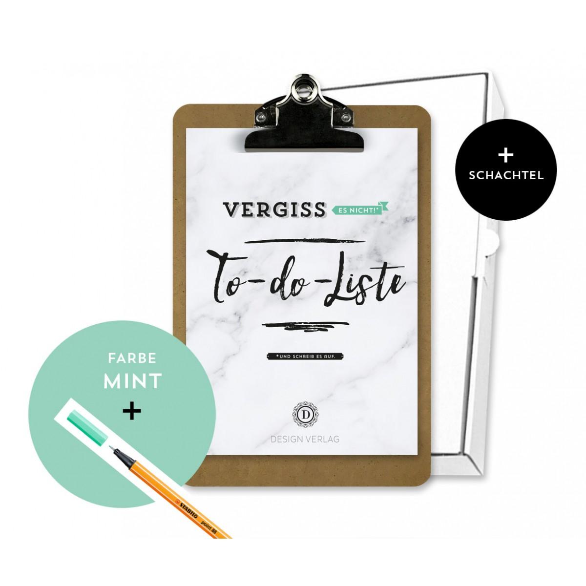 "Design Verlag To-Do-Liste ""Vergiss es nicht!"" Klemmbrett | Mint"
