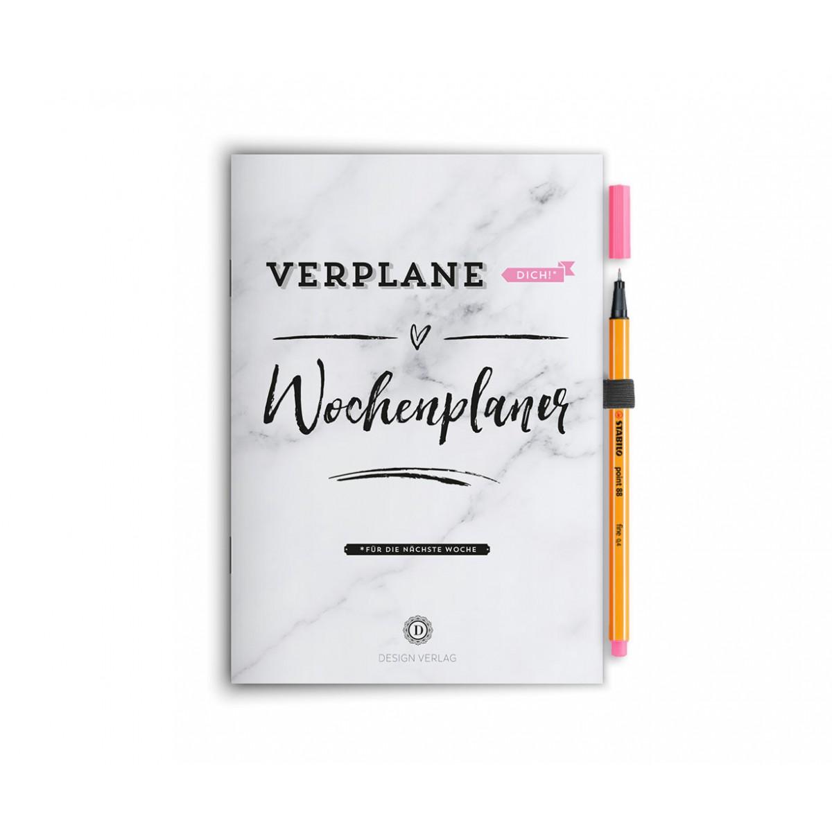 """Wochenplaner Notizbuch """"Verplane dich!"""" - Rosa"""