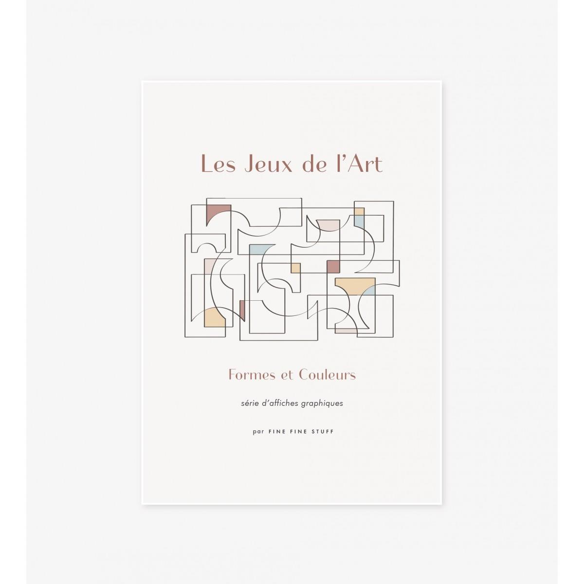 FINE FINE STUFF - Poster - Les Jeux de l'Art - terra - 30x40