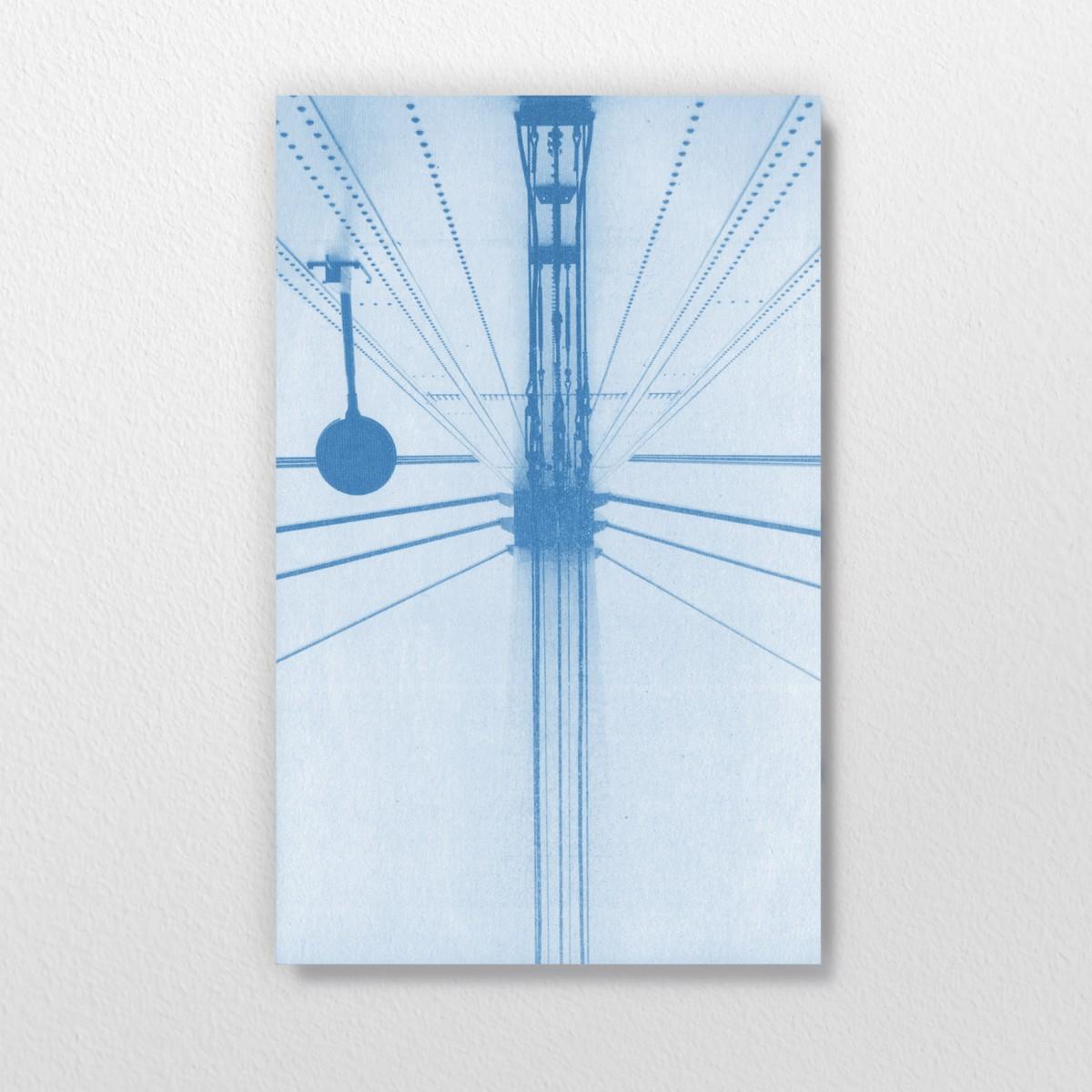 Blaupause – Fluchtpunkt, Cyanotypie auf Multiplex