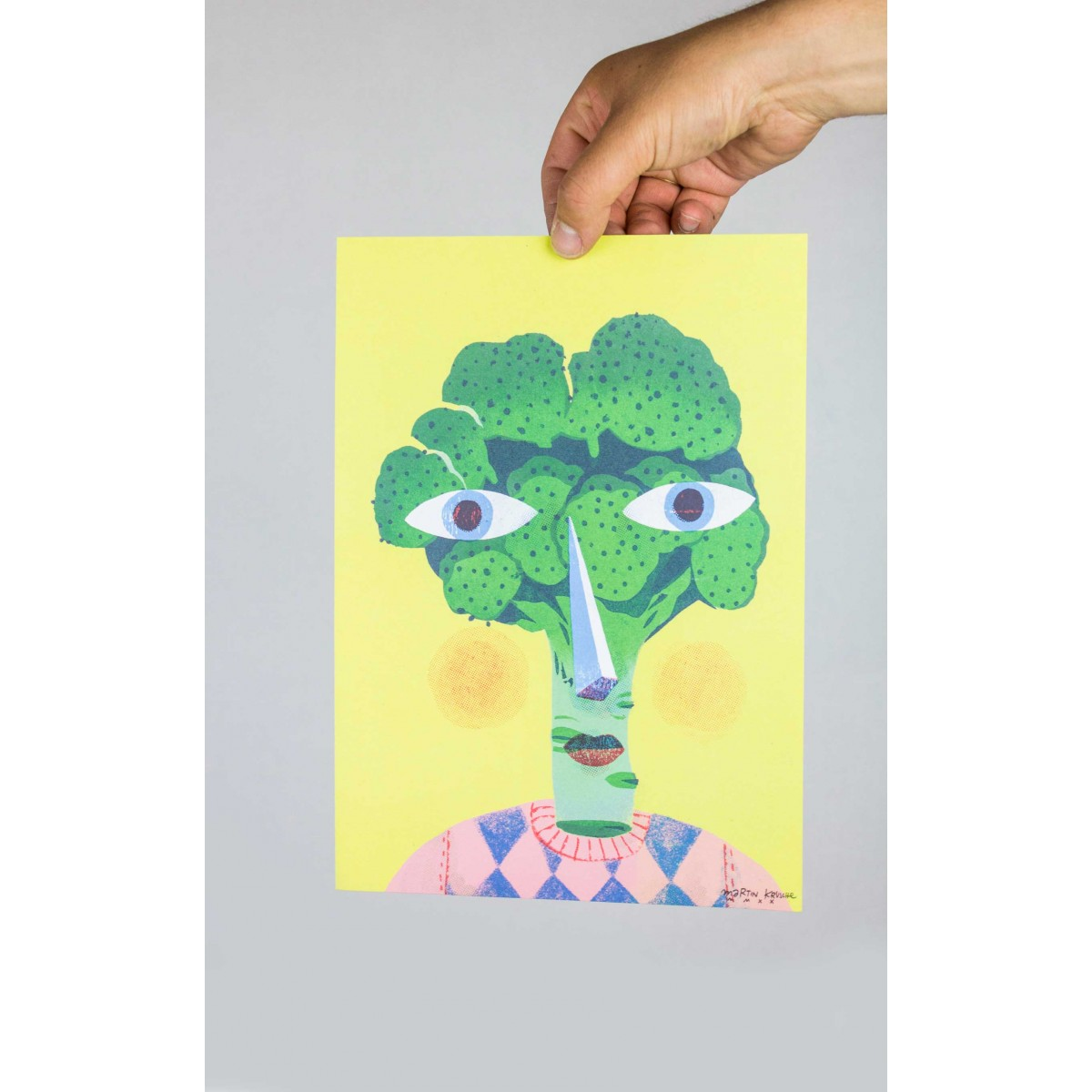 Martin Krusche - Poster »Brokkoliface« DINA4