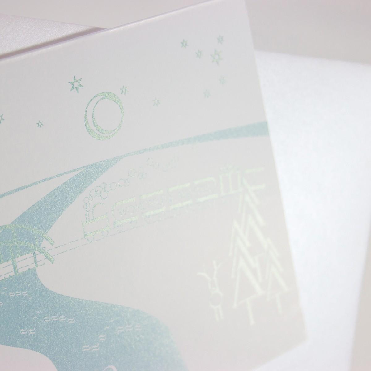 Grußkarten Buchstaben-Winterlandschaften