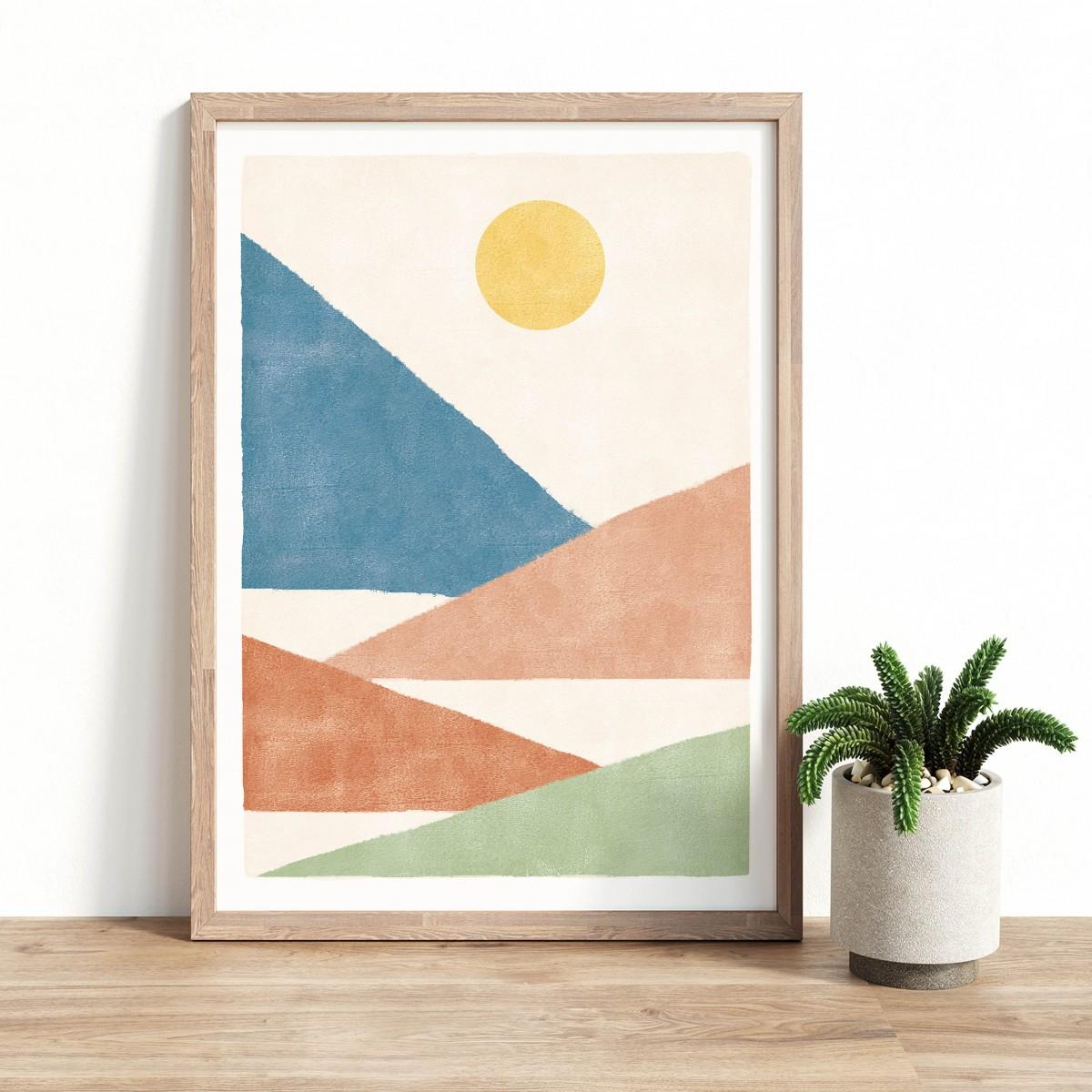 Paperlandscape   Kunstdruck   Berge Bunt   verschiedene Größen