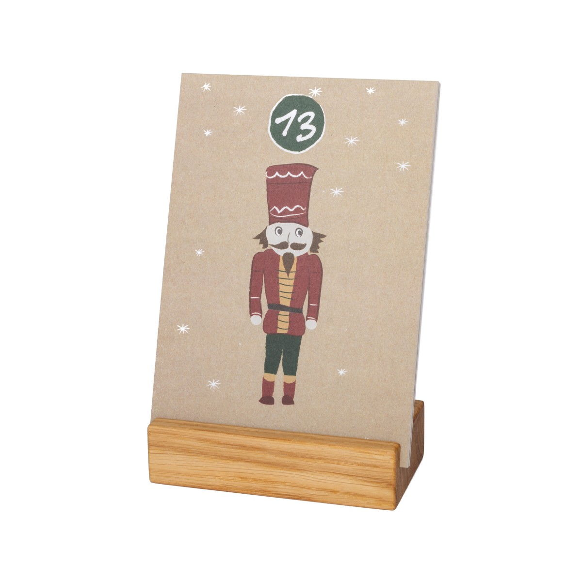 klotzaufklotz Adventskalender mit Karten Eiche