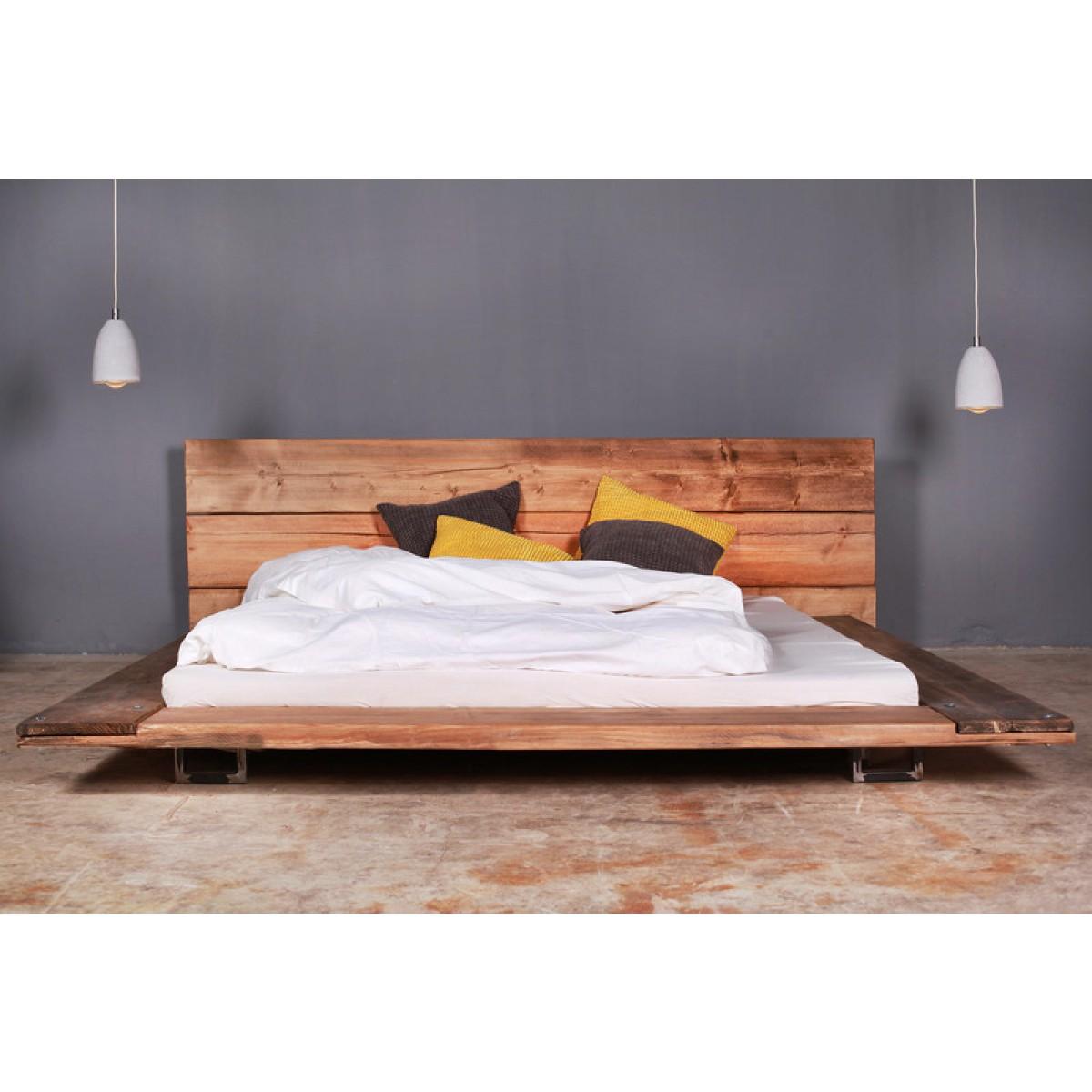 FraaiBerlin Bauholz Bett Cudos dunkel