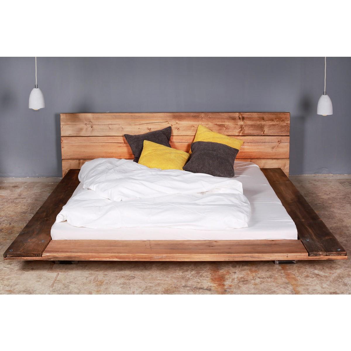 Bauholz Bett Cudos dunkel
