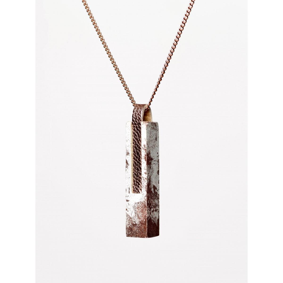 [GS02] Beton Halskette Kette - 925 Silber ROSÉ