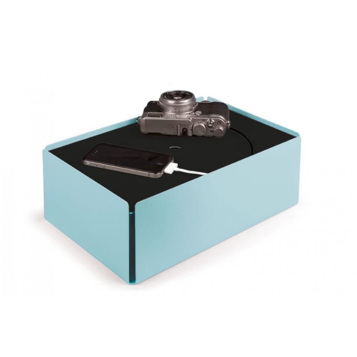 Konstantin Slawinski CHARGE-BOX Kabelbox (pastelltürkis)