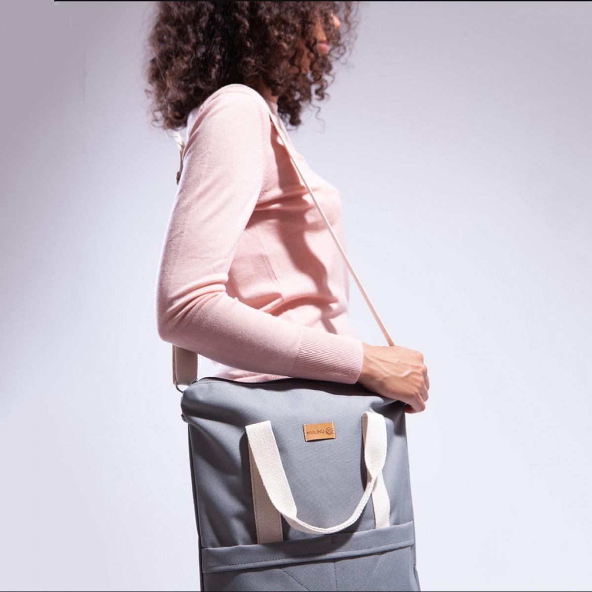 MULINU 3-in-1-Tasche CLASSIC GRETA Grau