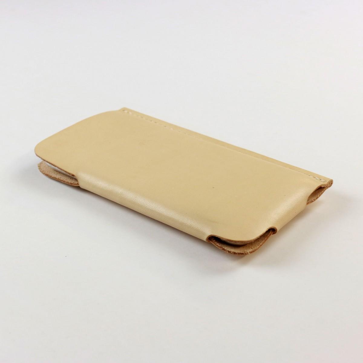 iPhone 6 Plus /6S Plus Slim Fit Hülle aus Leder in Farbe natur [natur]