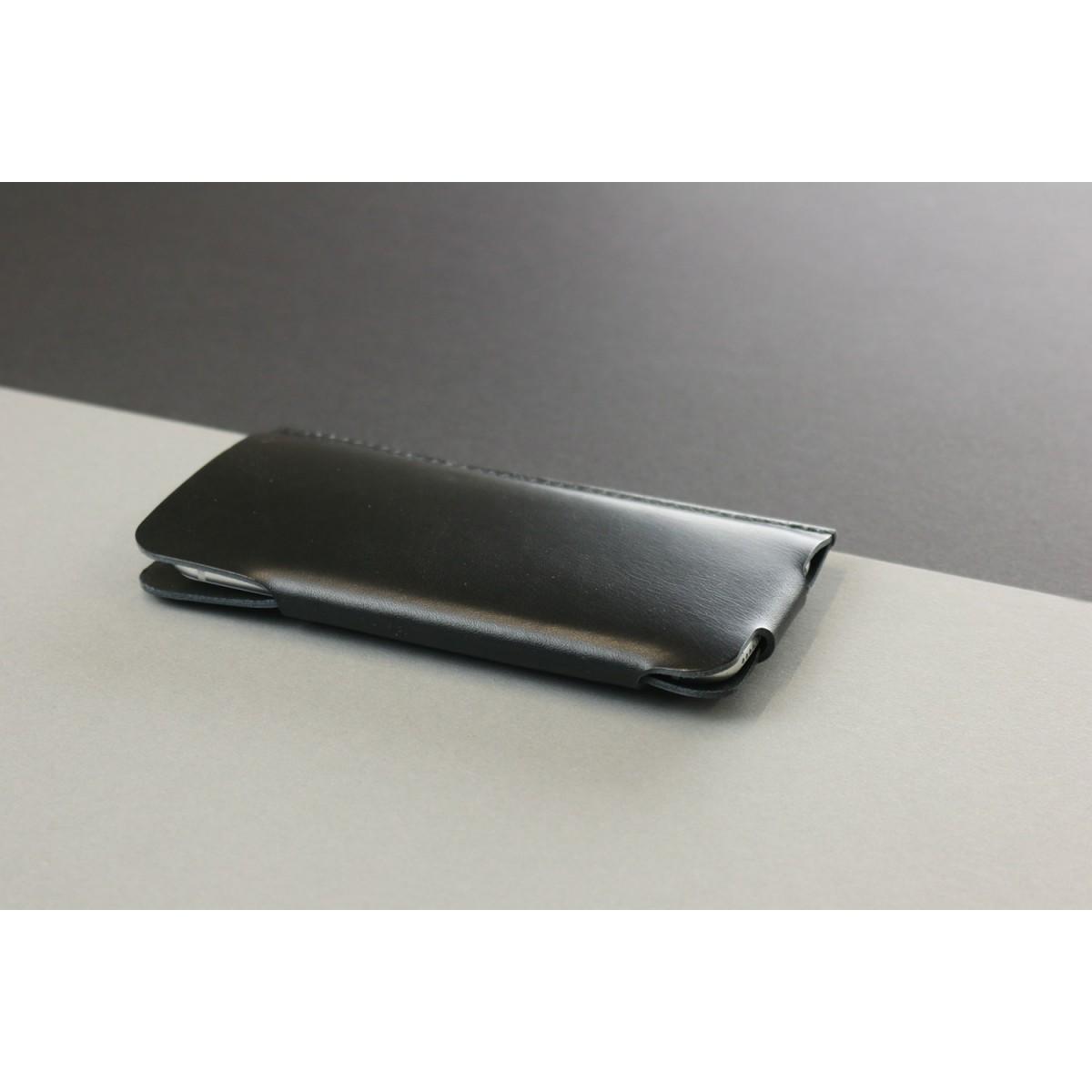 Slim Fit Hülle für iPhone 6 / 6S aus Premium Leder - Schwarz [BL]