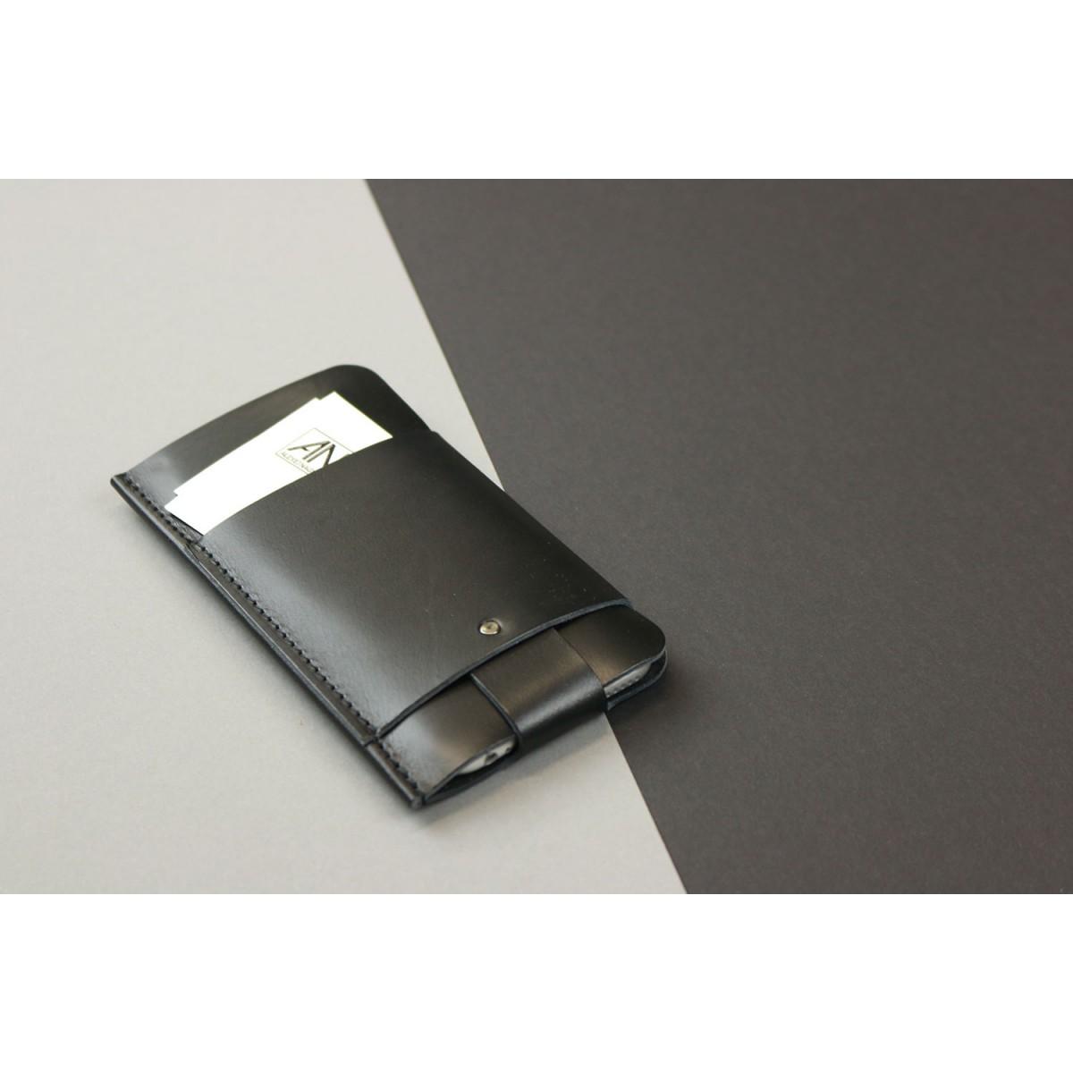 Alexej Nagel iPhone 5/5S/SE Slim Fit Hülle aus Premium Leder - schwarz [BL]
