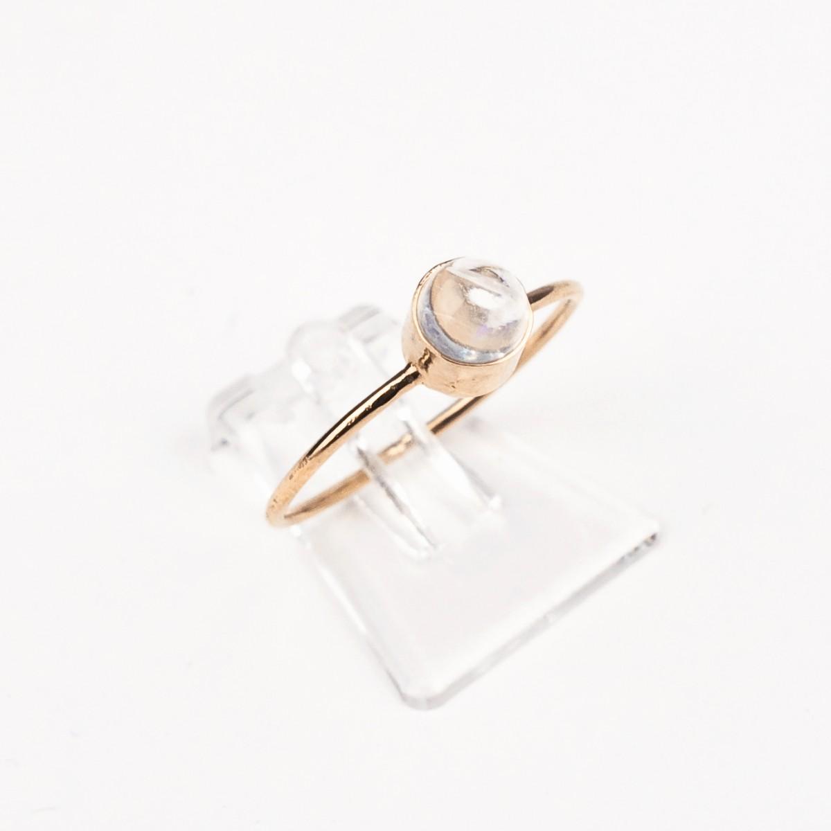 ST'ATOUR COSIMA – Ring mit Mondstein rosé vergoldet