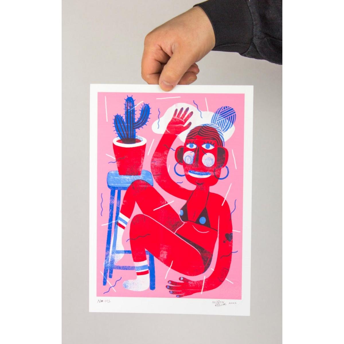 Martin Krusche - Fineartprint »Cactus Woman« DIN A4