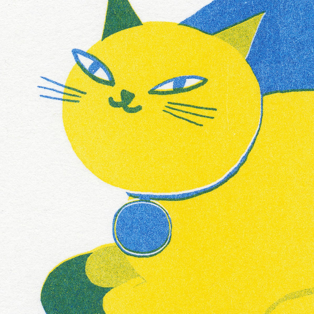 'Catflower' Riso Print