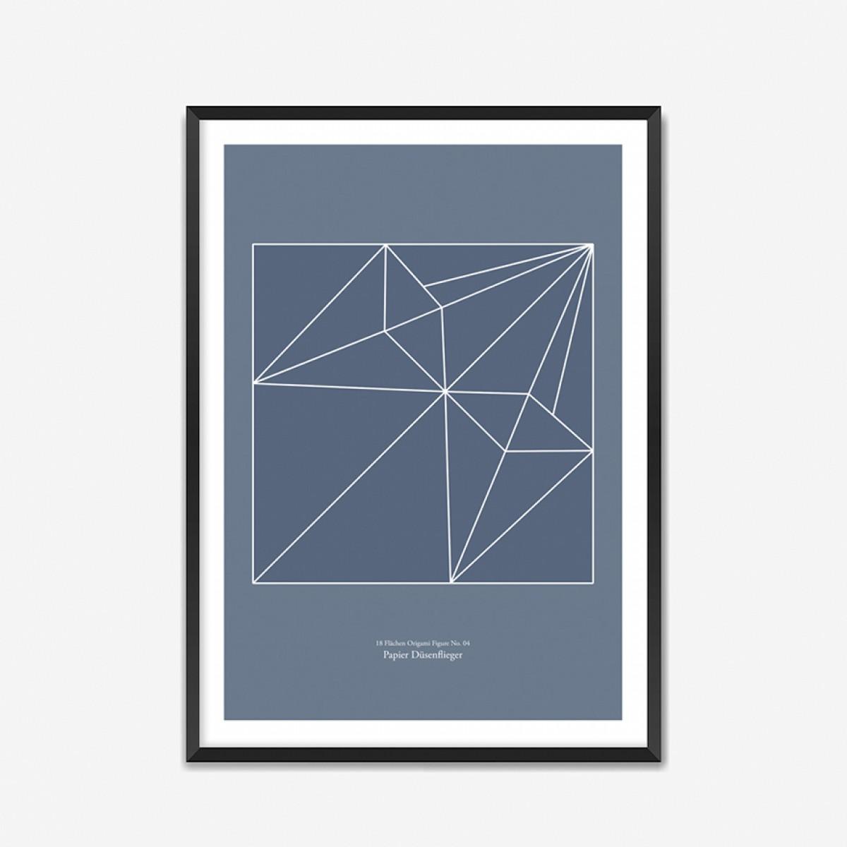 Origami Print Papierdüsenflieger von Christina Pauls