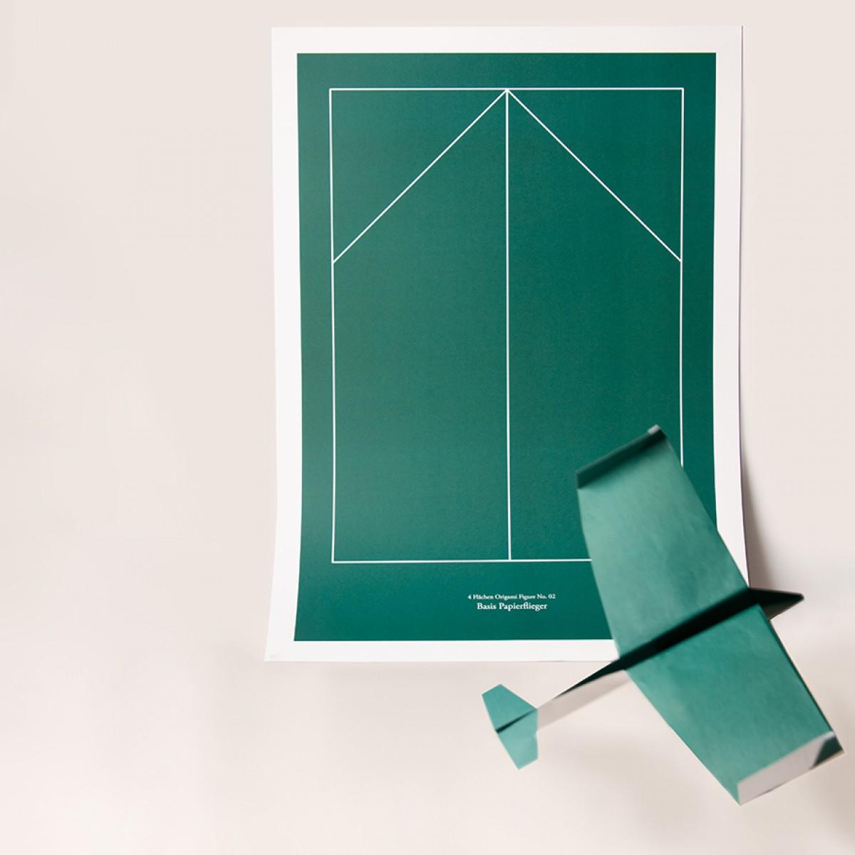 Origami Print Papierflieger von Christina Pauls