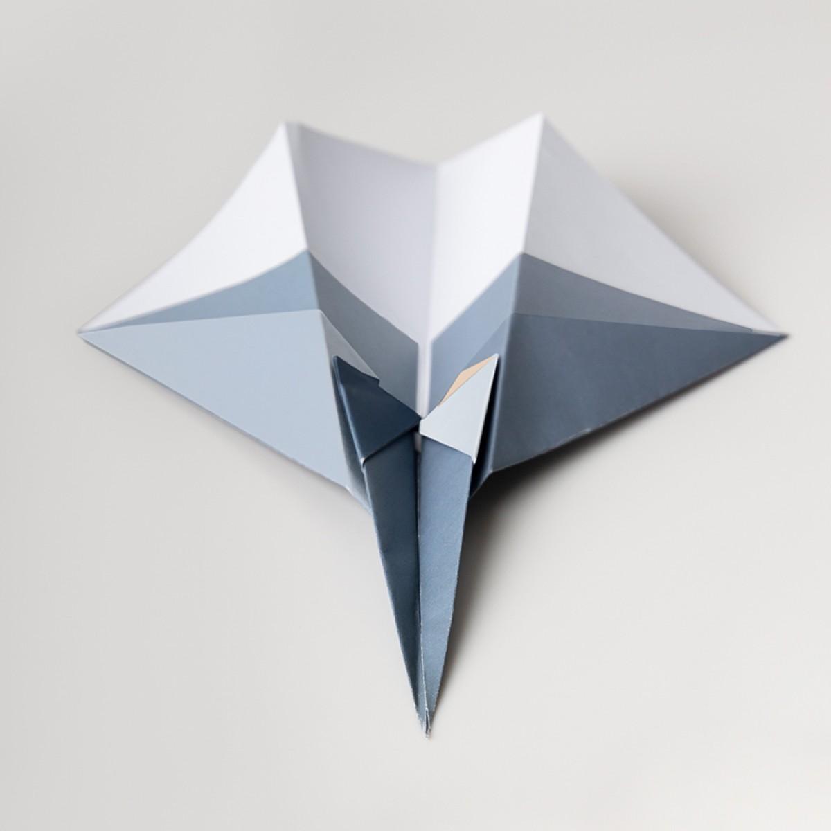 Origami Poster Papierdüsenflieger, mehrfarbig, von Christina Pauls
