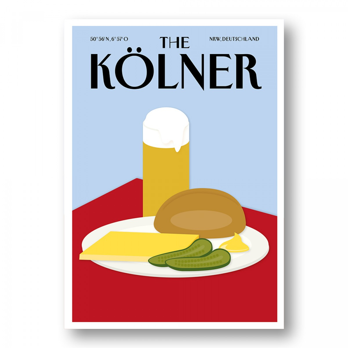 Rapü Design | Postkarten The Kölner Halver Hahn und Skyline | 2er-Set