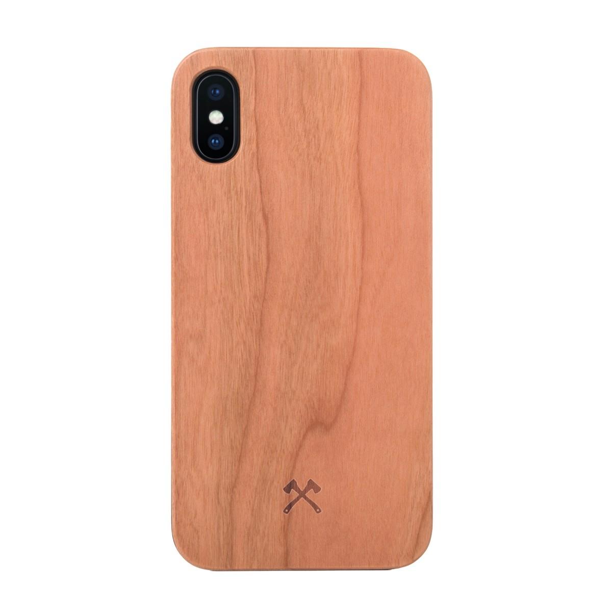 Woodcessories - EcoCase Classic - Premium Design Case, Cover, Hülle für das iPhone aus FSC zert. Holz (iPhone Xs Max, Walnuss, Kirsche, Bambus / schwarz)