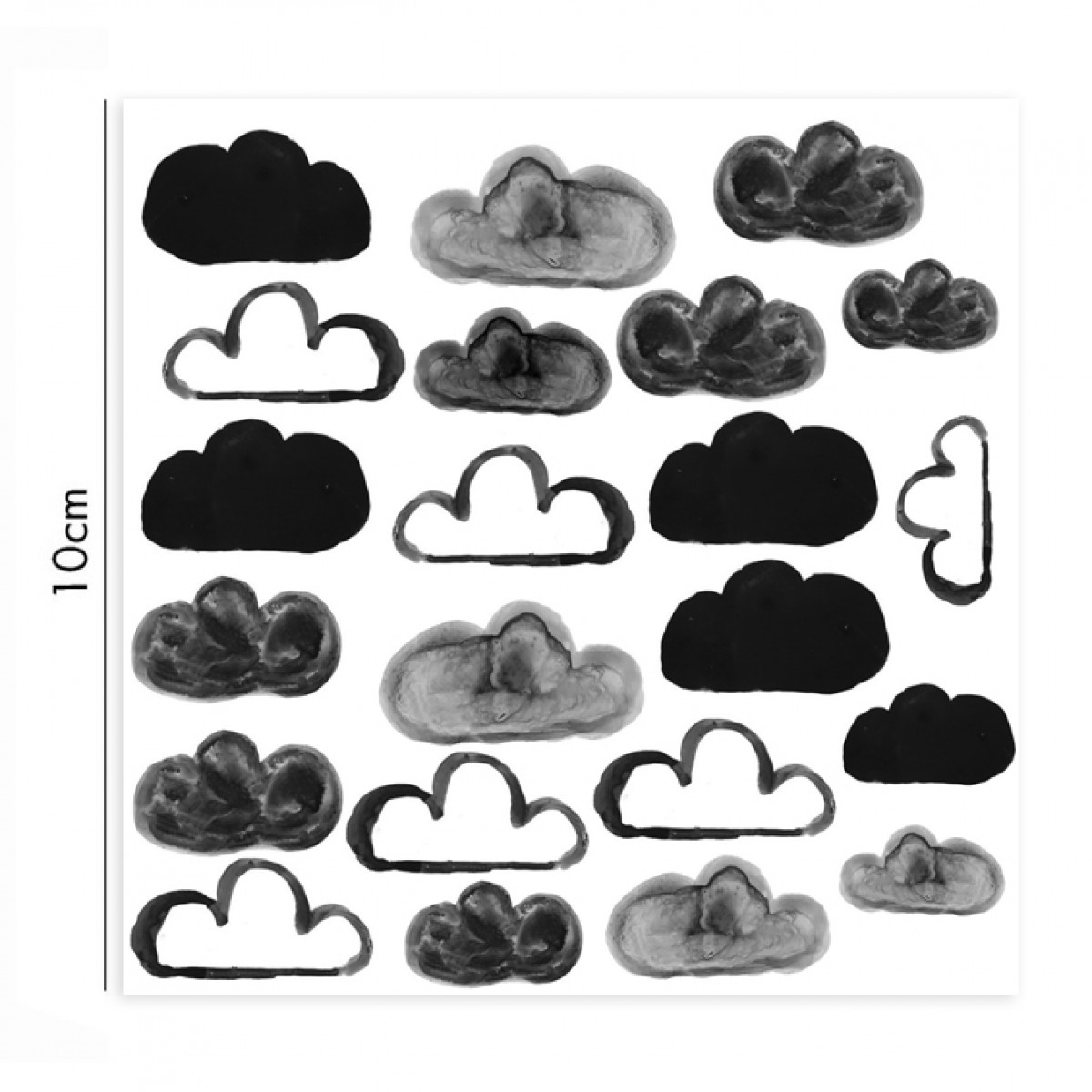 nuukk Clouds Porzellansticker