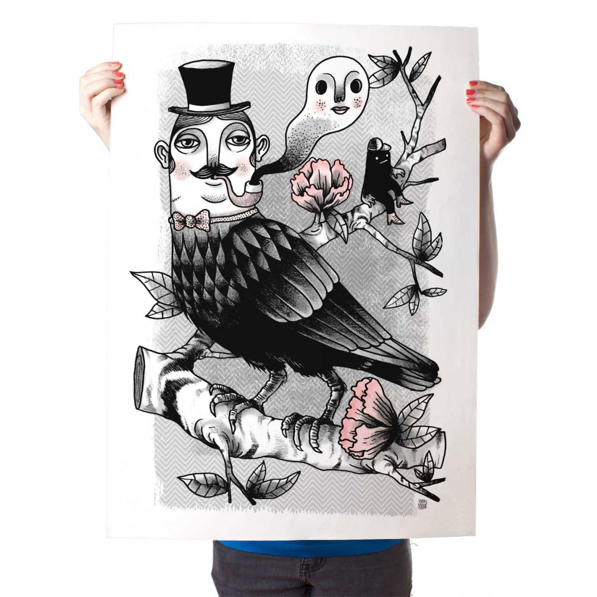 Poster »Corbus Gentleman« 50x70cm, Illustration von Martin Krusche