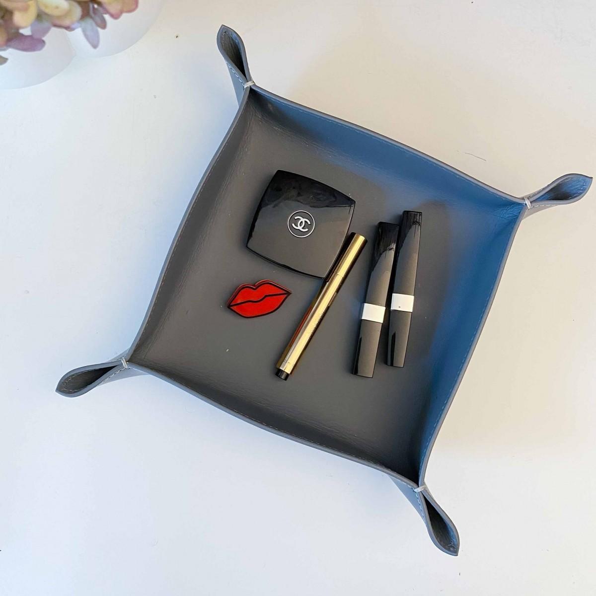 adorist - Lederschale, Taschenleerer Corium 20x20cm, grau