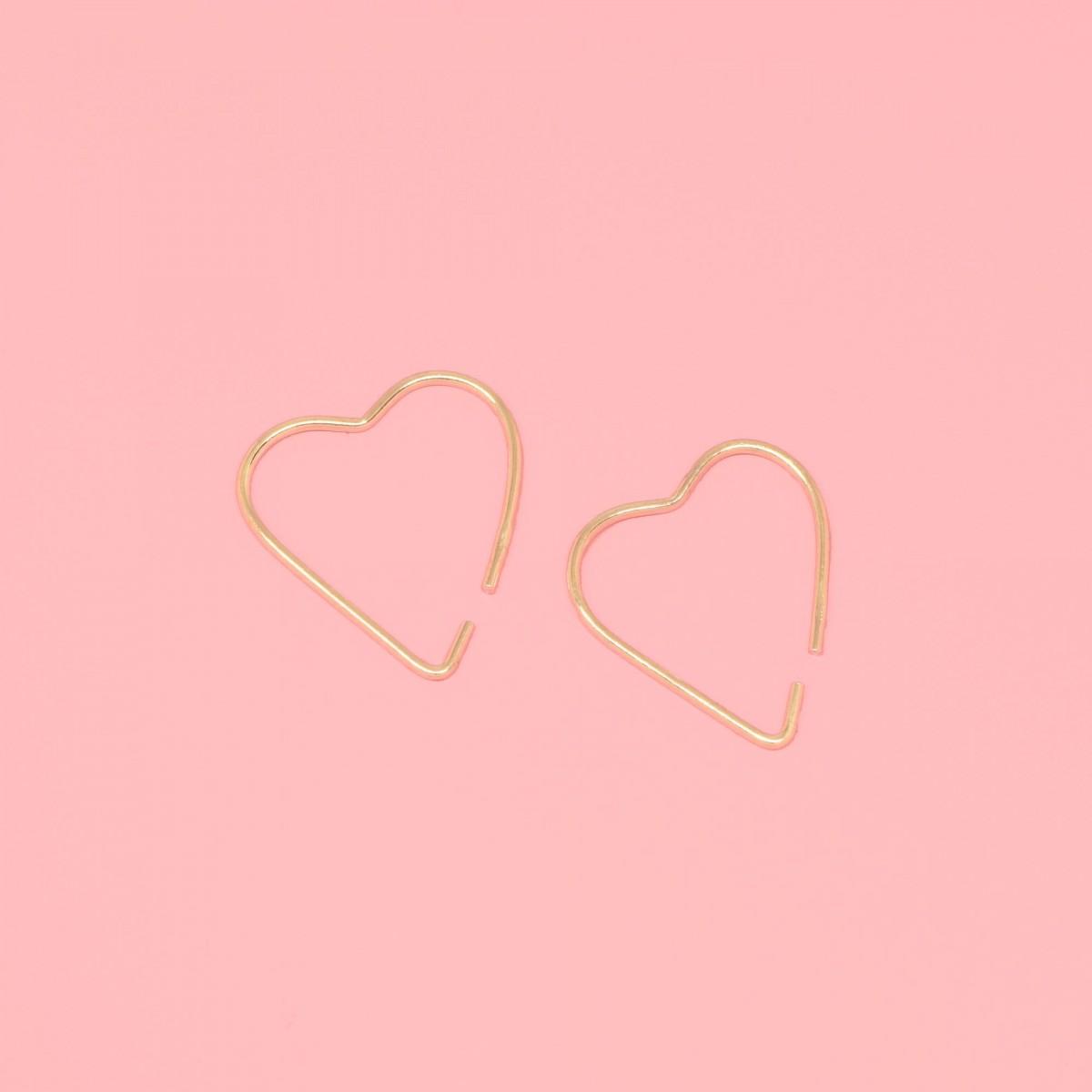 fejn jewelry - Creole 'heart'
