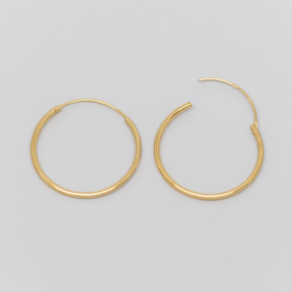 fejn jewelry - Creole 'simple hoop M'